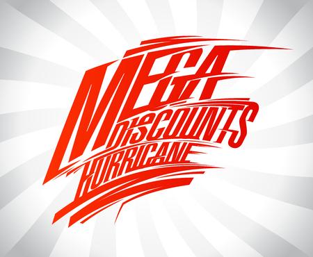 Mega discounts hurricane vector sale poster