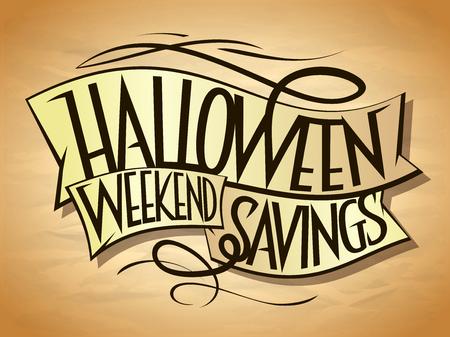 Halloween weekend savings sale poster concept