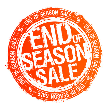 End of season sale red rubber stamp