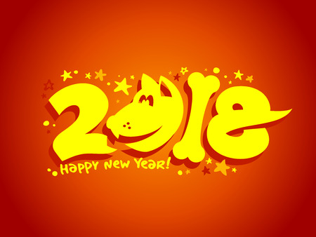 2018 Happy New Year banner.