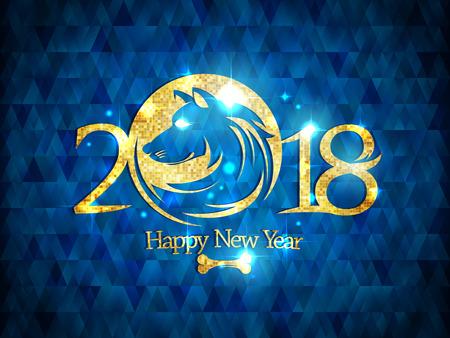 2018 Happy New Year banner. Stock Vector - 85578233