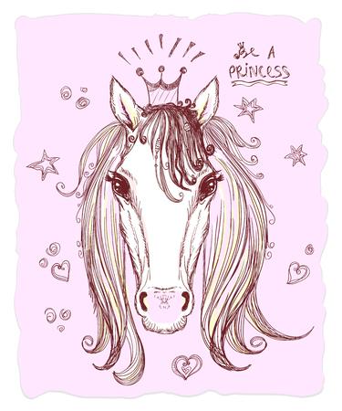 Pferdekopf-Symbol. Standard-Bild - 85578238