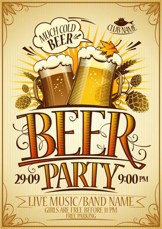 Bier feest banner. Stockfoto - 85578244