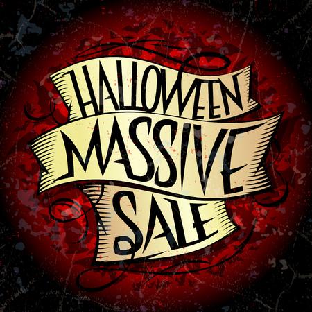 Halloween massive sale vector design concept