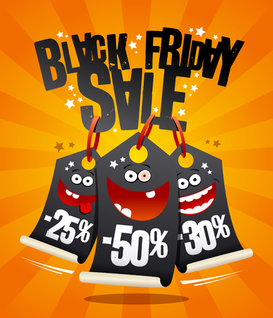 Black Friday sale banner concept, vector illustration.
