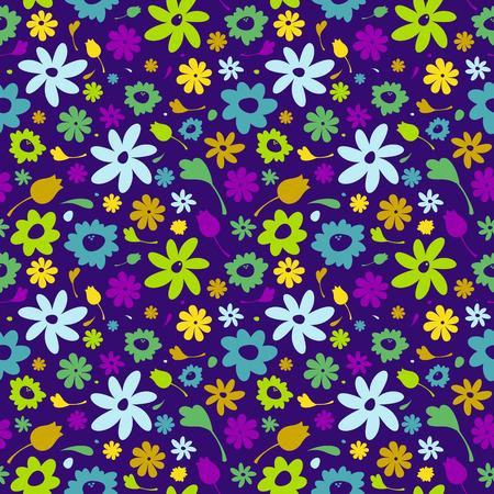 Cute seamless flower vector pattern