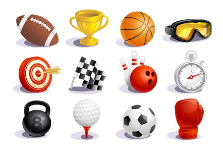 Sport symbols and icons vector set Illustration