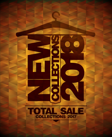New collections 2018, total sale collections vector design concept