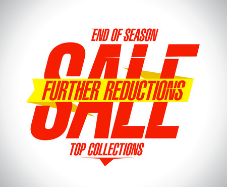 Further reductions sale design concept