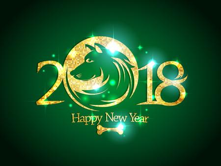 2018 year invitation card concept. Stock Vector - 91757152