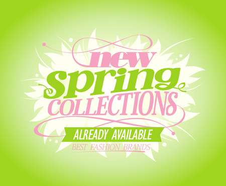 New spring collections vector poster