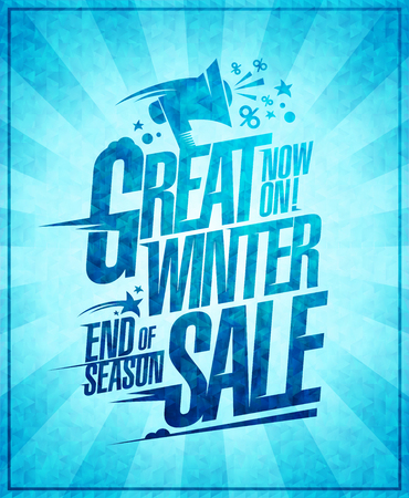 Great winter sale vector poster Ilustrace