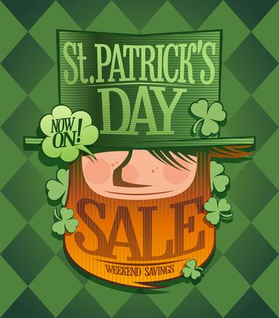 Patricks day sale banner Ilustração