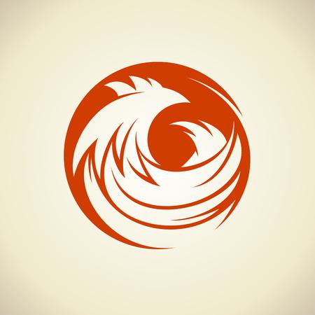 Hen silhouette in a circle icon concept. Stock Vector - 98761228