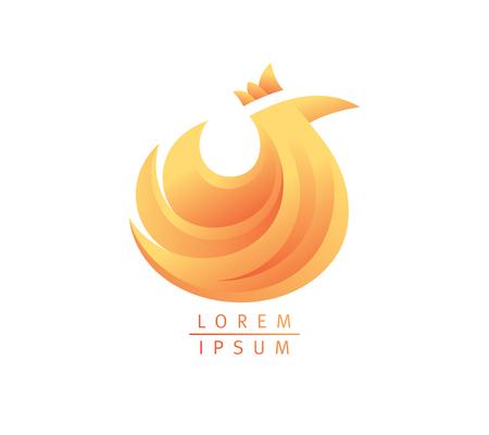 Hen icon design, agriculture symbol with chicken, branding identity.