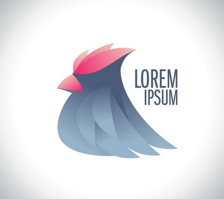Stylish bird icon concept.