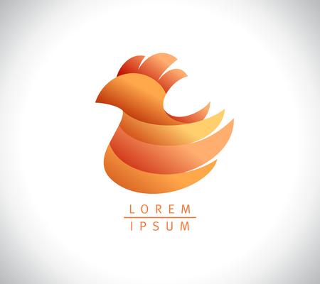 Chicken logo design, hen sign, agriculture symbol concept
