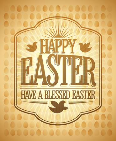 Happy Easter card, have a blessed day quote card