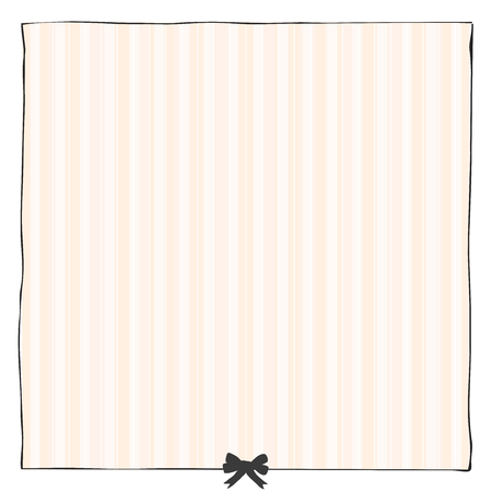 Graphic simple frame with bow and striped backdrop