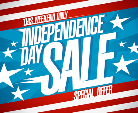 Independence day sale banner, special holiday offer poster concept