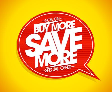 compre más más más más de la burbuja del discurso de la muestra del concepto del