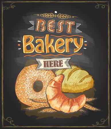 Best bakery here chalkboard concept