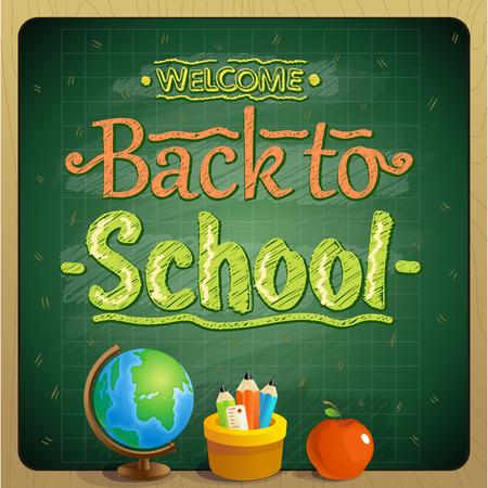 Back to school poster design concept Ilustrace