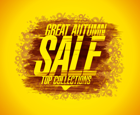 Great autumn sale vector poster concept, top collections