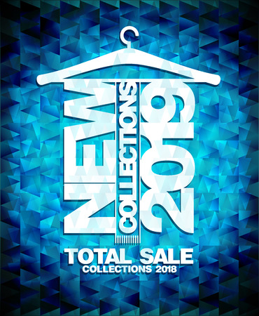 New collections 2019 fashion advertising poster concept, sale collections 2018 vector banner