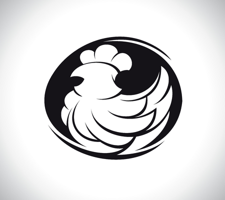 Hen silhouette symbol concept Illustration