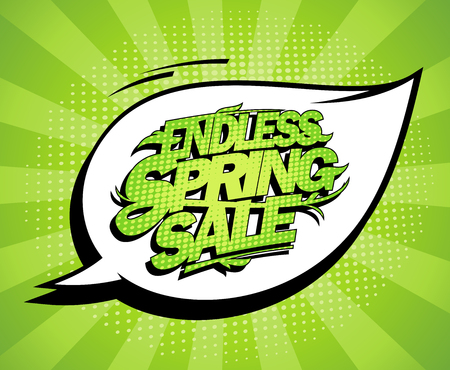 Endless spring sale poster design concept, fashion clearance banner