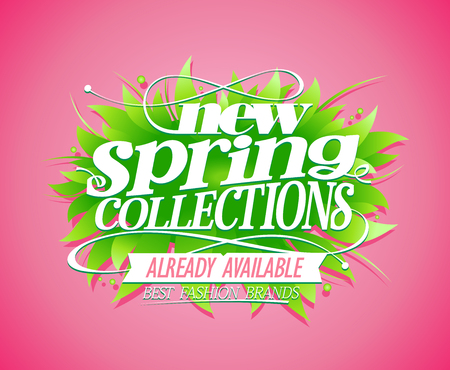 New spring collections banner concept