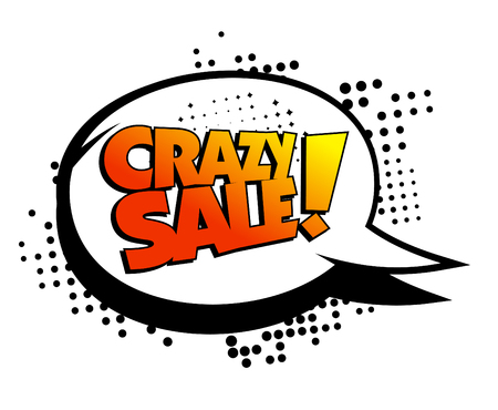 Crazy sale speech bubble.