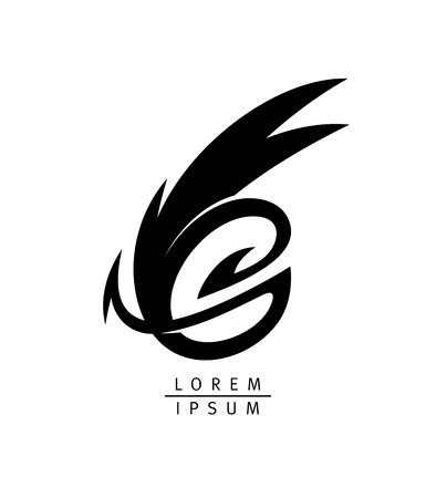 Dragon vector logotype