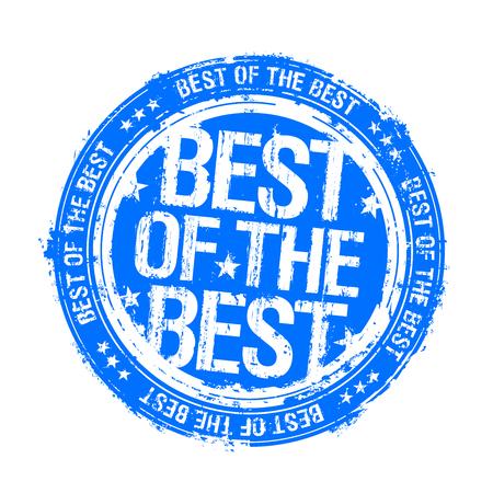 Best of the best stamp imprint, vector illustration Ilustração