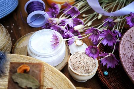 Fruit brown sugar scrub, handmade artisan cosmetics collection