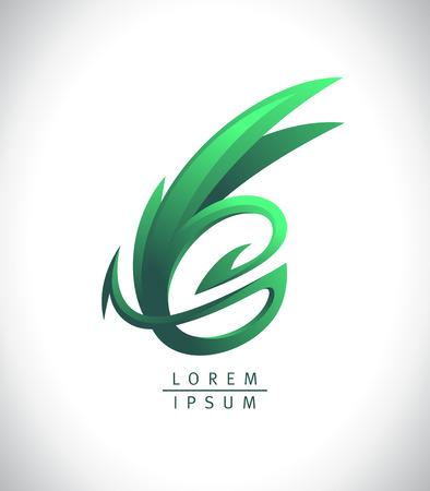 Green dragon logotype, vector design concept 向量圖像