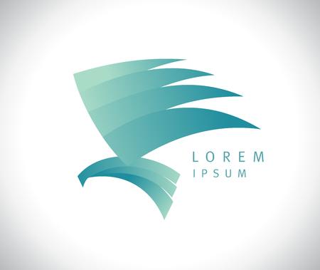 Flying eagle bird logotype concept