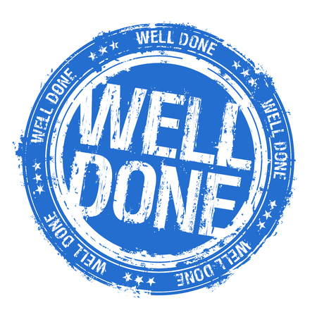 Well done rubber stamp imprint Illustration