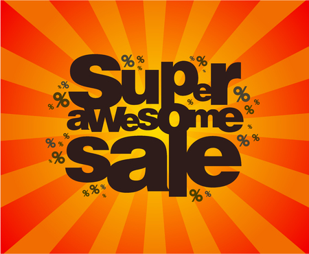 Super awesome sale poster design concept