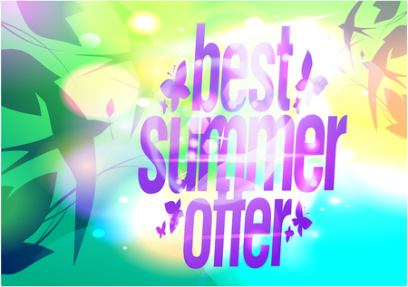 Best of summer, sale poster with flying swallows in the sky Ilustrace