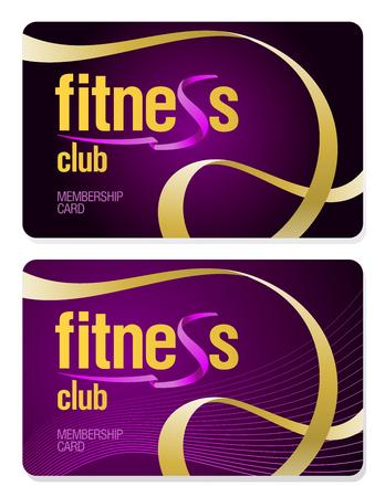 Fitnessclub-Mitgliedskarten-Set
