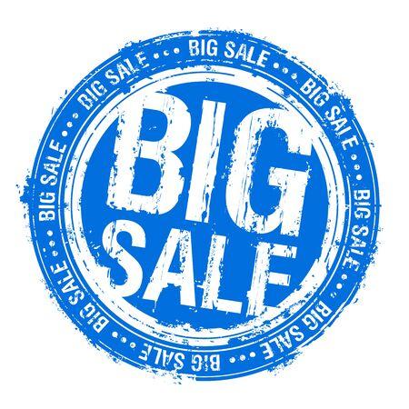 Big sale rubber stamp imprint Ilustrace