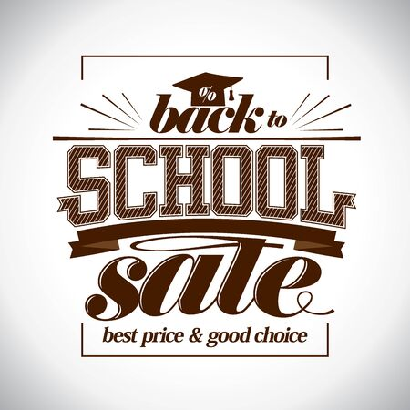 Back to school sale vector banner, best price and good choice Reklamní fotografie - 128503649