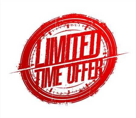 Limited time offer rubber stamp imprint, sale banner Vektoros illusztráció