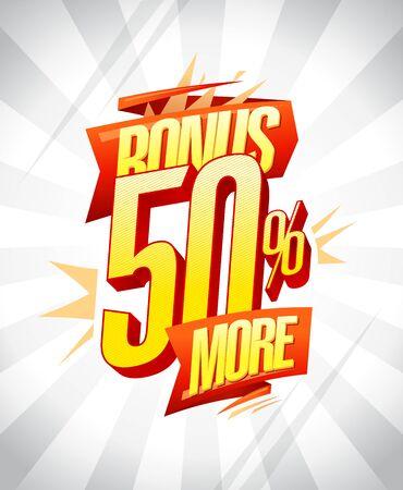 Bonus 50% more vector poster design concept Иллюстрация