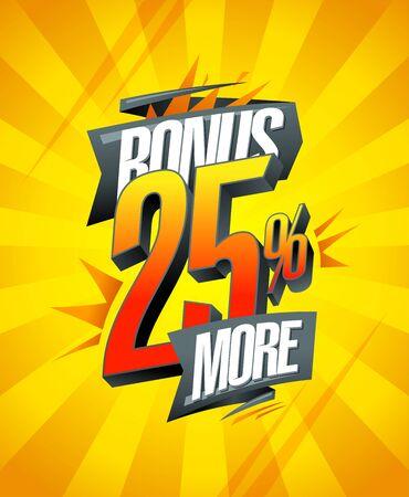 Bonus 25% more banner design concept