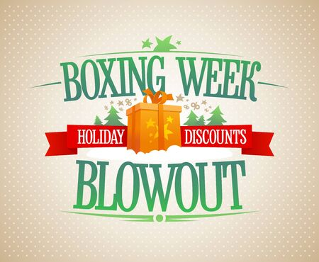 Boxing week blowout sale poster, holiday discounts