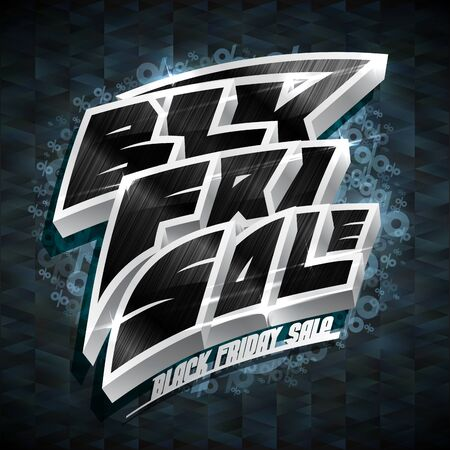 Black friday sale poster design concept, vector illustration Фото со стока - 129514995
