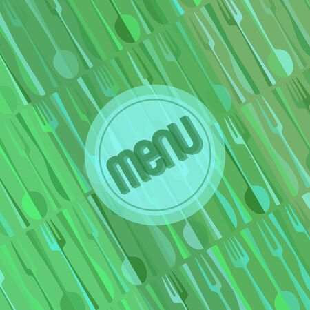 Abstract modern restaurant or cafe menu card cover design